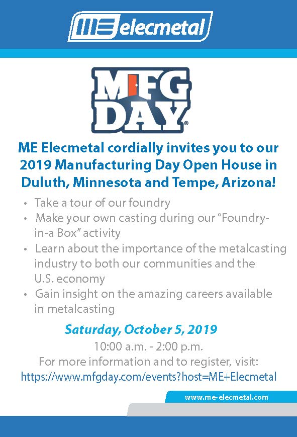 ME Elecmetal Manufacturing Day Invitation