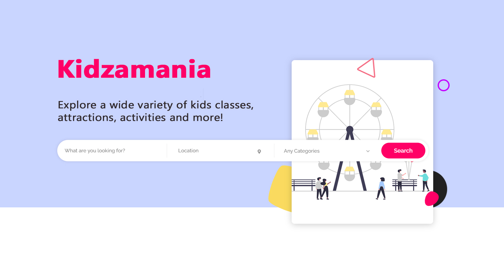 Kidzamania - Kids' Activities Marketplace