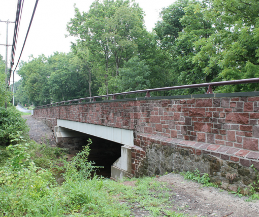 Old Easton Road Bridge Plumstead Township After
