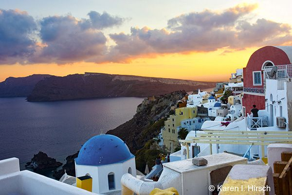Sunset In Oia Greece
